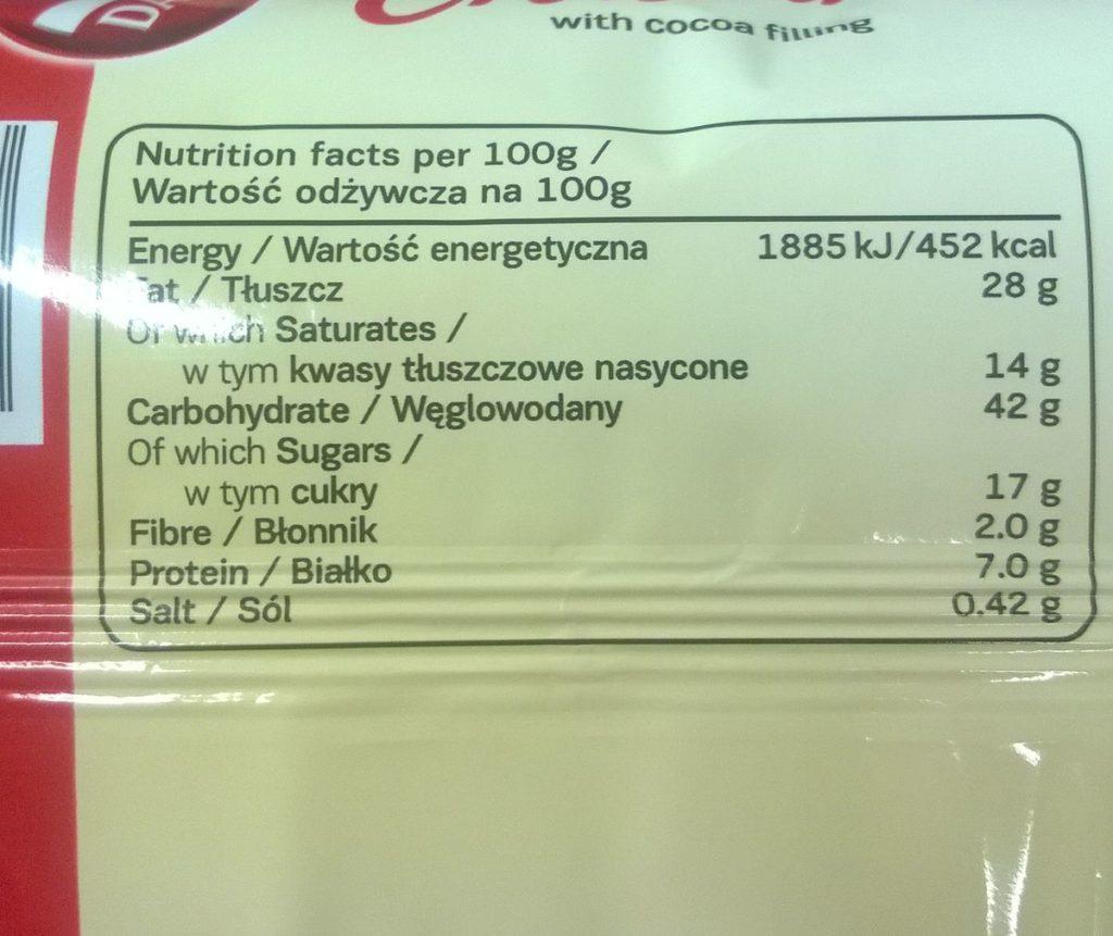 Jeden rogalik ma 80 g zatem dostarcza 33,6 g węglowodanów